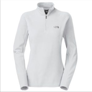 The North Face TKA 100 pullover sweater white M